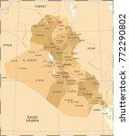 iraq map   vintage high... | Shutterstock .eps vector #772290802
