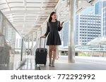passenger  walking in passenger ...   Shutterstock . vector #772292992
