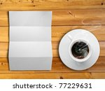 white fold paper and a white... | Shutterstock . vector #77229631