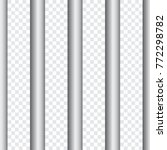 seamless prison bars isolated... | Shutterstock .eps vector #772298782