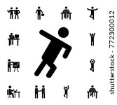 running man silhouette icon.... | Shutterstock .eps vector #772300012