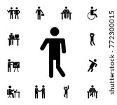 man standing silhouette icon.... | Shutterstock .eps vector #772300015