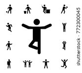 yoga silhouette man icon. set... | Shutterstock .eps vector #772300045