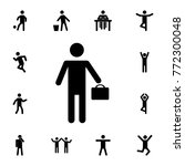 silhouette businessman icon.... | Shutterstock .eps vector #772300048
