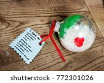 hand made i spy ornament from... | Shutterstock . vector #772301026