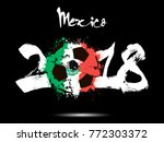 abstract number 2018 and soccer ... | Shutterstock .eps vector #772303372