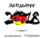 abstract number 2018 and soccer ... | Shutterstock .eps vector #772303405