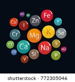 20 minerals  microelements and... | Shutterstock .eps vector #772305046