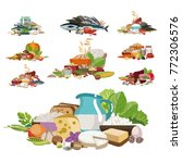 composition from natural useful ... | Shutterstock .eps vector #772306576