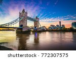 tower bridge at sunrise | Shutterstock . vector #772307575