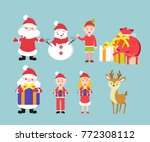 set of cristmas and new year... | Shutterstock .eps vector #772308112