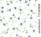 seamless flower vector pattern | Shutterstock .eps vector #772309858