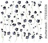 flower vector pattern | Shutterstock .eps vector #772310326