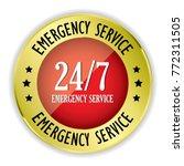 red 24 7 emergency service... | Shutterstock .eps vector #772311505