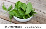 detox product. fresh spinach... | Shutterstock . vector #772317232