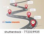 business road map timeline... | Shutterstock .eps vector #772319935