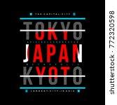 tokyo typography tee graphic... | Shutterstock .eps vector #772320598
