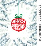 merry christmas text.... | Shutterstock .eps vector #772323778