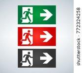 vector fire emergency icons.... | Shutterstock .eps vector #772324258