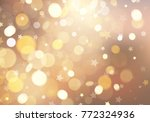 golden stars and twinkly lights ... | Shutterstock .eps vector #772324936