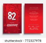 82 years anniversary invitation ... | Shutterstock .eps vector #772327978