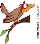 Bird Woodpecker. Cartoon