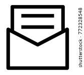 wedding invitation icon vector | Shutterstock .eps vector #772328548