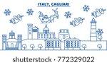 italy  cagliari winter city... | Shutterstock .eps vector #772329022
