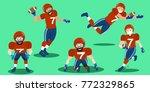 cartoon american football... | Shutterstock . vector #772329865