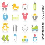 baby icons | Shutterstock .eps vector #77233480