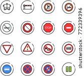 line vector icon set   airport... | Shutterstock .eps vector #772339396