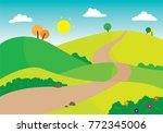 vector illustration of winding... | Shutterstock .eps vector #772345006