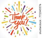 thank you illustration vector | Shutterstock .eps vector #772345576