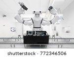 artificial intelligence robot... | Shutterstock . vector #772346506