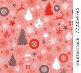 seamless christmas background...   Shutterstock .eps vector #772354762