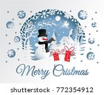 merry christmas and happy new... | Shutterstock .eps vector #772354912