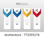 modern info graphic template... | Shutterstock .eps vector #772355176