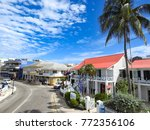 aerial view of harbour drive in ... | Shutterstock . vector #772356106