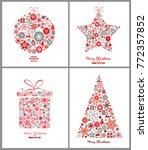 set of decorative winter cards  ...   Shutterstock .eps vector #772357852