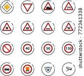 line vector icon set   main... | Shutterstock .eps vector #772361338