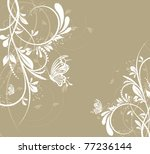 Stock vector vector flower creative decorative abstract background butterfly 77236144