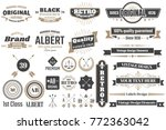 vintage retro vector logo for... | Shutterstock .eps vector #772363042