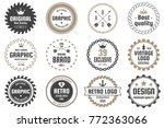 vintage retro vector logo for... | Shutterstock .eps vector #772363066