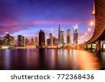 view of dubai downtown skyline... | Shutterstock . vector #772368436