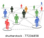 isolated business network... | Shutterstock .eps vector #77236858