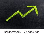 green color hand drawing chalk...   Shutterstock . vector #772369735