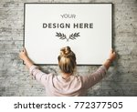 design space photo frame | Shutterstock . vector #772377505