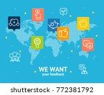 we want feedback concept... | Shutterstock .eps vector #772381792