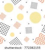 abstract trendy minimal... | Shutterstock .eps vector #772382155