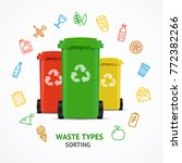 realistic 3d detailed recycled... | Shutterstock .eps vector #772382266